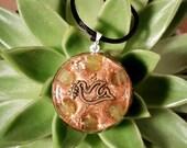 Jade Orgone Pendant  - Lightworker Jewellery - Heart Chakra Balancing Necklace - Medium