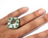 Aventurine Orgone Ring – Energy Balancing and EMF Protection - Heart Chakra Balancing - Spiritual Gift - Small Square