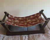 Walnut Stained Pet Hammock Stand