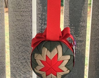 Flightsuit Quilted Christmas Ornament- Custom 3