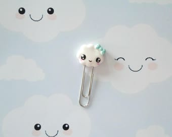 papers clip cloud kawaii polymer clay