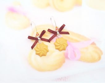 earrings biscuit shortbread polymer clay