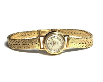 Vintage 1950's 18k Yellow Gold Ebel Ladies Dress Watch