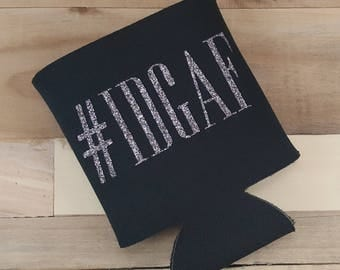 IDGAF, Can Cooler, Hashtag, Funny Gift, Novelty, Novelty Gift, Sassy, Can Cozies, Can Cozie, Can Holder, Can Cozies, Beer Gift, Party