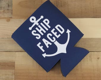 Ship Faced Can Hugger, Ship Face, Ship Faced Birthday, Cruise, Cruise Gear, Cruise Gifts, Boat, Boating Gifts, Vacation, Vacation Mode