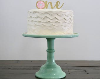 Donut Grow Up First Birthday Cake Topper