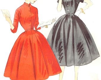 Vintage 1950s Teen Full Dress Uncut Sewing Pattern McCall's 9896 With Rockability