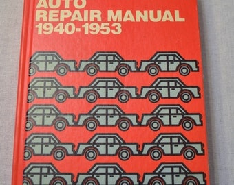 Chiltons Auto Repair Manual 1940 1953 Automotive Car Vintage Book 1971 Hardcover PanchosPorch