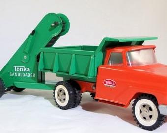 Vintage Tonka 1965-1967 Dump Truck and Sand Loader - Restored