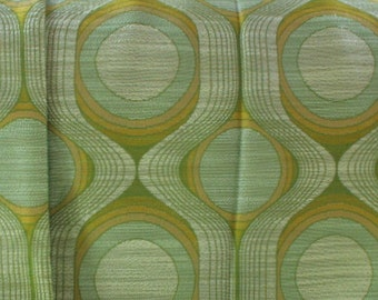 Vintage 70s curtains, pair of curtains, green window drapes, 70s, big size