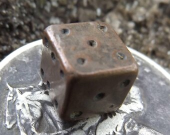 Civil War Soldier's Handmade Die - Recovered in Central VA - Authentic, Antebellum Era Antique - One-of-a-kind Victorian Piece, RARE!!