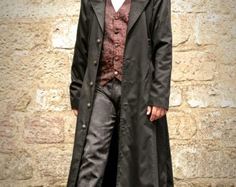 FRONTIER COAT - Full length fitted Duster Coat - GOTHIC S/M