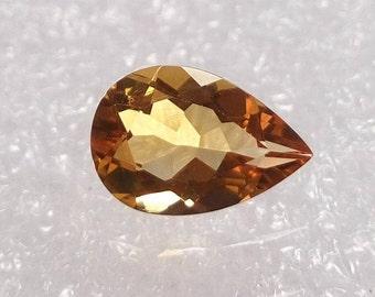 Beautiful Faceted Citrine Gemstone Pear Cut Stones 12x8x5 mm / Citrine Stone / Pear Shape Citrine Gems