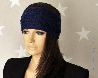 HEADBAND / Hairband Merino blue