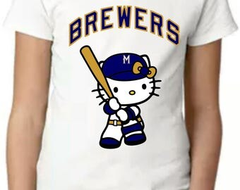 Similar Girls Milwaukee Brewers Hello Kitty T-Shirt