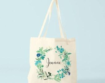 Canvas bag, Jeanne, custom name, gift woman, gift coworker, novelty gift.