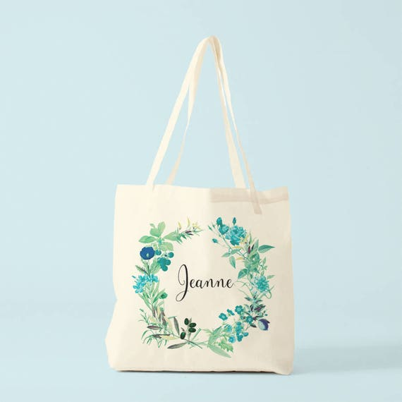 Canvas bag, Jeanne, custom name, gift woman, gift coworker, novelty gift.