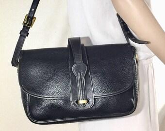 Dooney and Bourke Black Leather Purse, Bag, Shoulder Bag