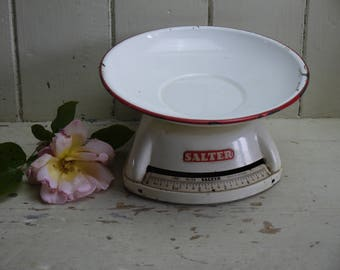 Vintage Salter Scales - Cream & Red - 1950s
