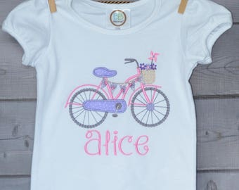Personalized Bicycle Bike Applique Shirt or Onesie Boy or Girl