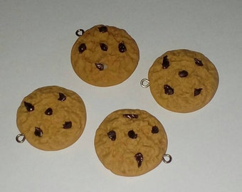X 1 polymer clay Chocolate Chip Cookie