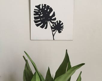 Frond Painting 001 Philodendron Silhouette