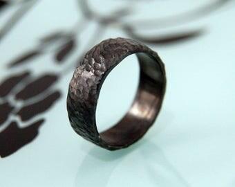 Black wedding ring Etsy