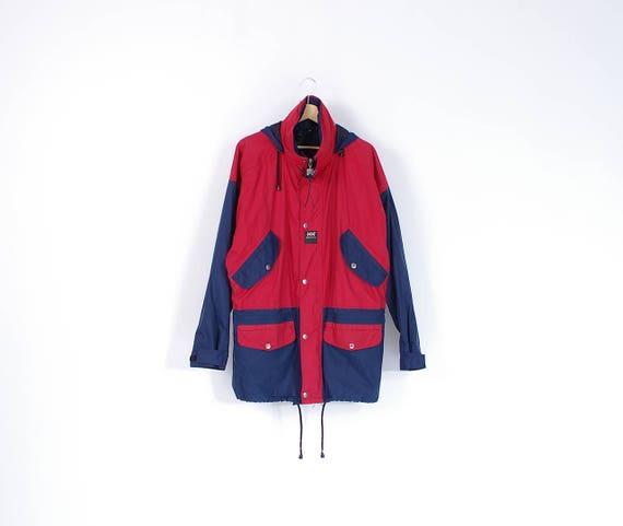 90s Helly Hansen workwear hooded windbreaker jacket / size M