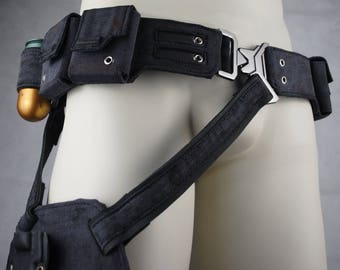 Belt with bag and sheaths