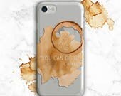 Coffee Phone Case, iPhone 8 Case, 6s Plus, SE, Galaxy S8 Case, Note 5, Note 8, S7 Edge, S6 Clear iPhone 7 Case, Caffeine, Coffee Lover Gift.