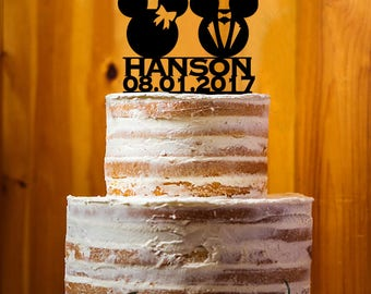 Custom Wedding Cake Topper, Mr. & Mrs. Last Name Cake Topper, Wedding Cake Topper , Acrylic Topper, Cake Topper Party Decor - AT198