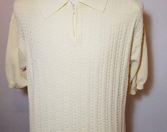 FREE  SHIPPING   1960  Ban  lon  rayon Knit Shirt
