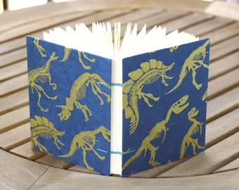 Dinosaur Blank Journal, Coptic Stitch Binding, Handmade Notebook, Sketchbook, Diary