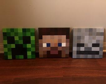 Minecraft Wall Decor Etsy