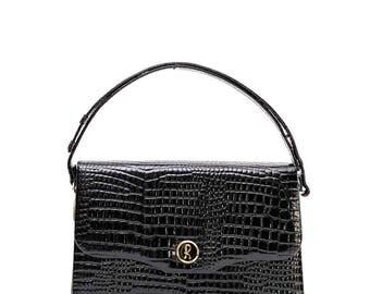 Vintage Roberta Di Camerino black leather bag