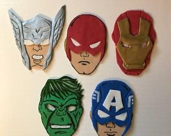 Fondant Super Hero Faces