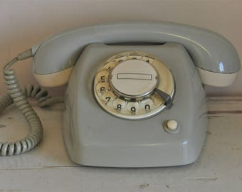 Original Vintage Dutch PTT Telephone - Type T65 - Retro Phone - Rotary Phone -1960's - Made in the Netherlands - Collectible