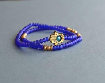 Purple Stretch Yoga Bracelets, Friendship Bracelets, Boho Bracelets, Yoga Bracelets, Gift Under 15 Dollar, Gift For Her, Bohemian Bracelets.