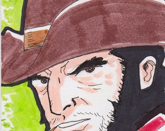 """Wolverine X-Men 2 1/2"""" x 3 1/2"""" artist trading card ACEO"""