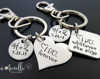 Couple Wedding Gifts, Wedding Gifts Personalized, Personalized Keychains for Couple, Engagement Gifts for Couple, Gifts for Wedding Couple