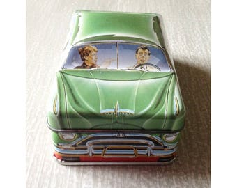 Bentley's of London Carlectables Candy Tin Vintage 1990s 1 of a Series of 6 American Cars from the 1950s
