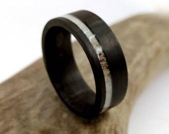Carbon Fiber Ring, Antler Ring, Elk Antler Ring, Carbon Fiber Antler, Jewelry, Ring, She Said Yes, Gift Ideas, Hunter Ring, Colorado Jewelry