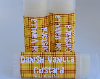 Danish Vanilla Custard - Lip Balm - Sweetened Lip Balm - Vanilla Custard Chapstick - Vanilla Custard Lip Balm - Lip Moisturizer
