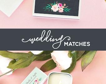 Striking images matchbook wedding
