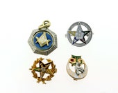 14K White and Yellow Gold Assorted Freemasons Pins