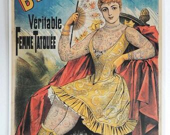 La Belle Irene Tattoo Postcard