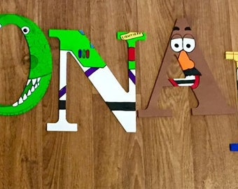Toy Story Wooden Letters, Woody, Buzz Lightyear