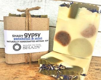 Patchouli Soap, Patchouli Mint Soap, Hippie Soap, Hippy Soap, Gypsy Soap, Palm Oil Free Soap, Vegan Soap, Handmade Soap, Artisan Soap