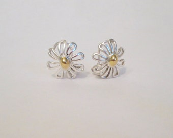 Tiffany & Co. Sterling Silver and 18k gold, Paloma Picasso Daisy Earrings