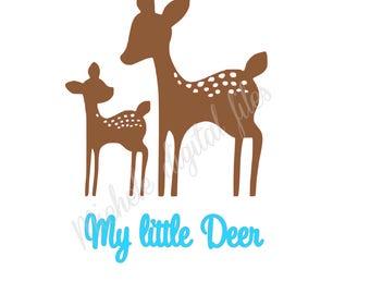 my little deer svg, my little deer, my little deer silhouette, my little deer cricuit, my little deer cut files